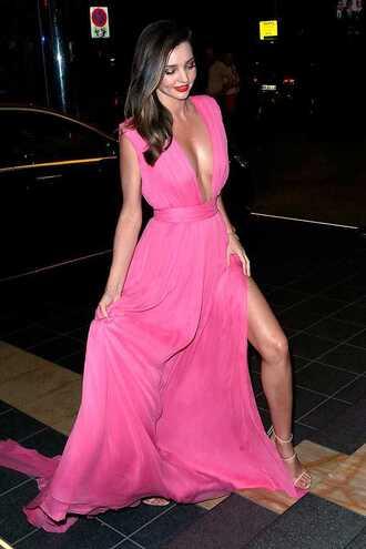 dress pink dress pink prom dress miranda kerr red carpet celebrity style