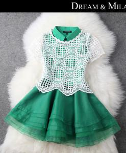 Free Shipping LAN18 Lace Collar Sexy Fashion Women Clubwear Mini Dress Lingeries 2014 New High Quality   Amazing Shoes UK