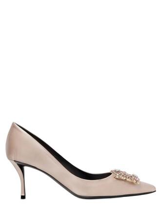 pumps satin nude shoes