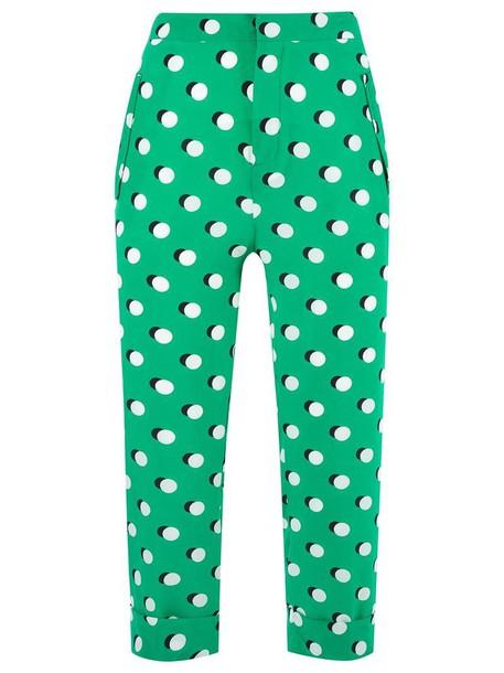 Reinaldo Lourenço cropped women silk green pants