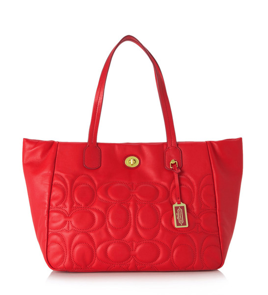 Coach legacy weekend quilted leather turnlock tote