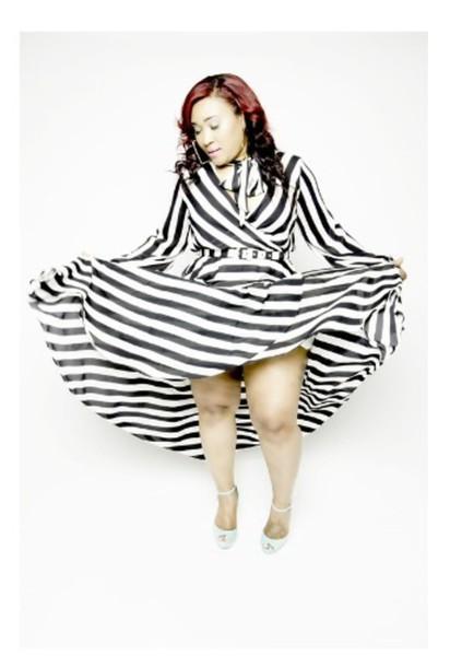 Maxi dress black and white plus