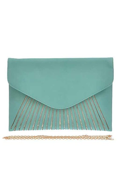 bag handbag clutch purse mint gold clutch hot new