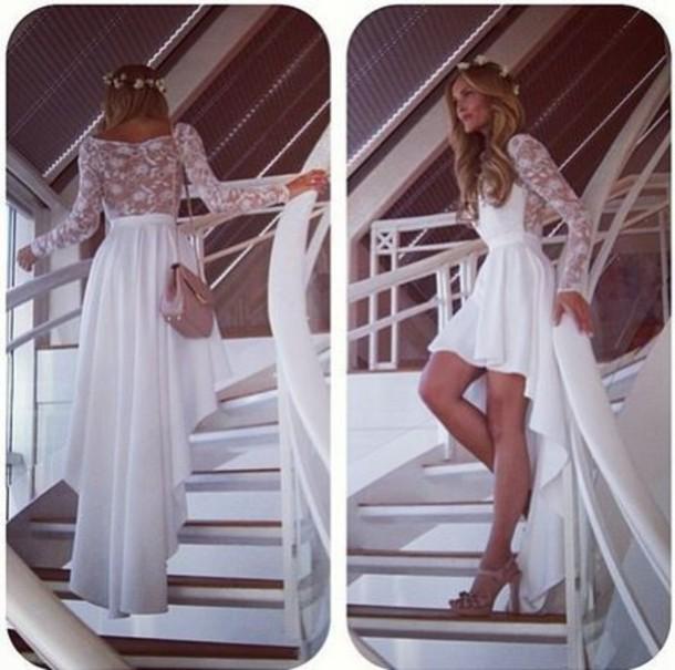 dress white dress summer dress boho floral dress