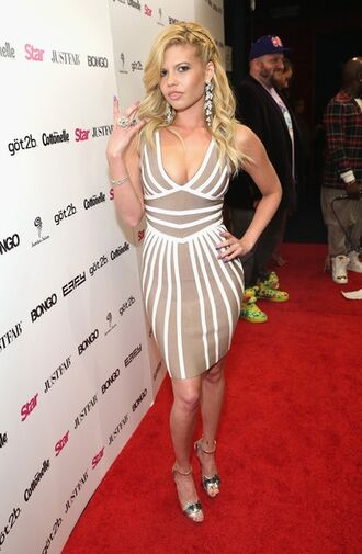 dress nude dress nude and white dress chanel west coast striped dress sexy dress nude and white striped dress