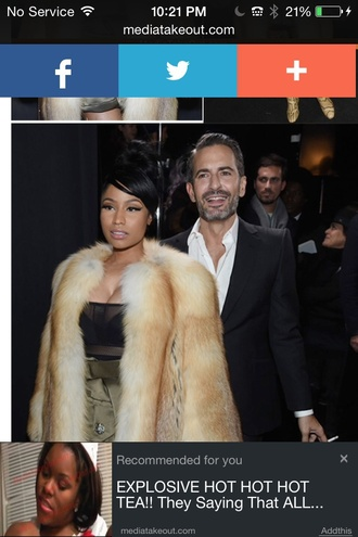 coat style fashion nicki minaj