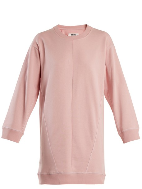 dress sweatshirt dress cotton light pink light pink