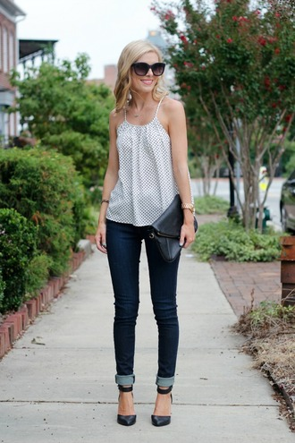 life with emily blogger top jeans shoes bag jewels sunglasses