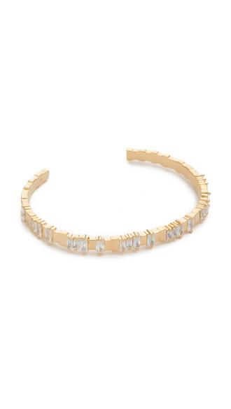 cuff cuff bracelet gold white jewels