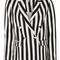 Stripe suit jacket - monochrome