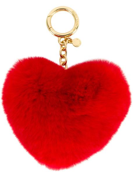 heart fur women ring red jewels