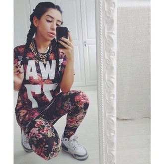 shirt badass foral jumpsuit princess flawless dope skirt