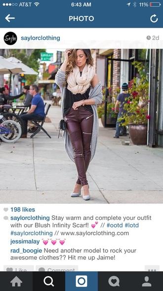 pants zip leggings burgundy leggings faux leather leggings