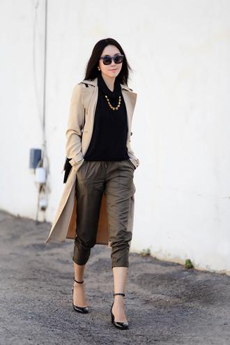 fit fab fun mom blogger pants coat shoes bag sunglasses jewels