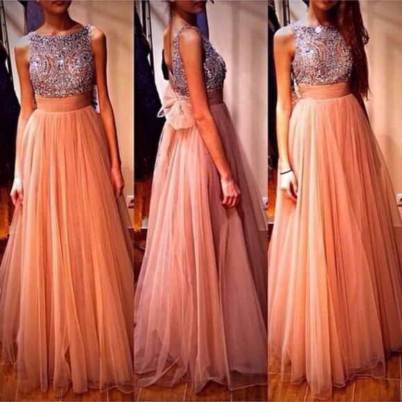 coral orange prom. peace silver sparkels glitter dress prom dress pink evening dress