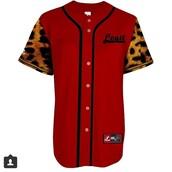 jersey,jersey dress,jersey tee shirt,baseball jersey,leopard print,red,sexy,tomboy,legit,swag,shirt