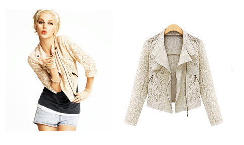 Celebrity style stealer lace motorcycle jacket (ships free) · luxury fashion & accessories  · online store powered by storenvy