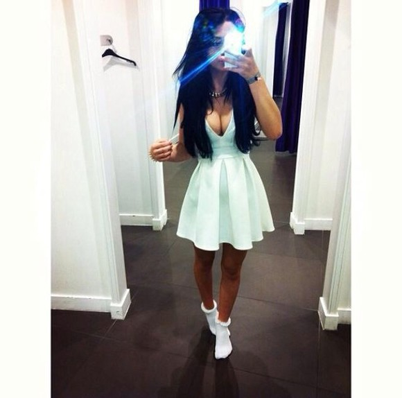 dress hot white dress summer cute dress