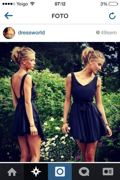 dress little black dress open back short dress