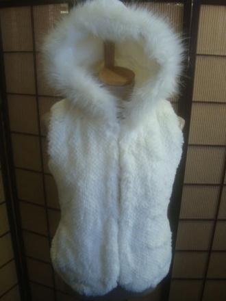 jacket faux fur vest fur jacket hoodie fur