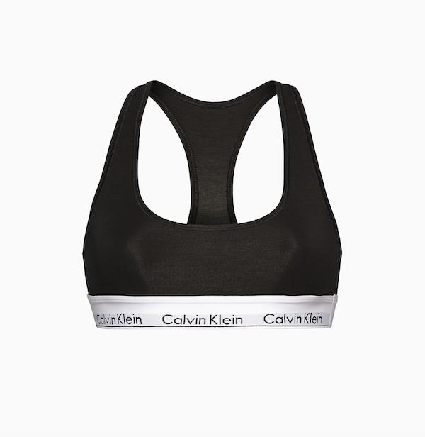 Modern Cotton Black Bralette