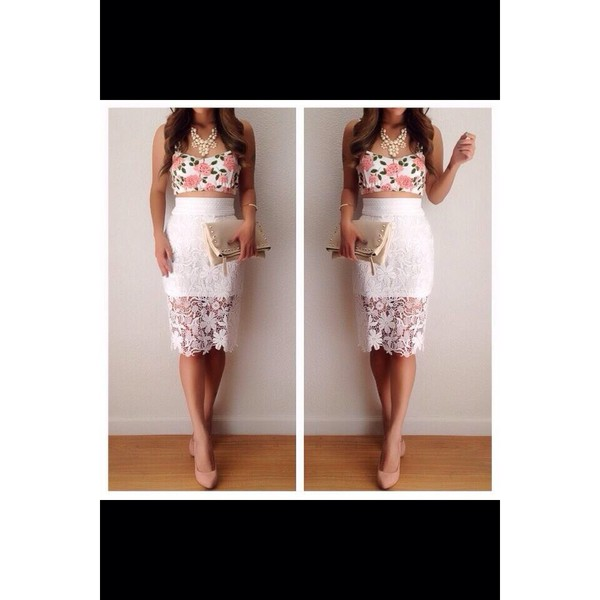 skirt white lace lace skirt sassy fancy elegant