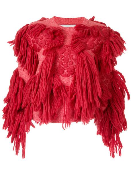 Writtenafterwards jumper women cotton wool red sweater