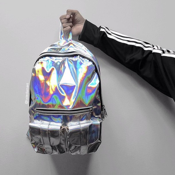 bag backpack kozy holographic trendy grunge tumblr hippie nike unisex girl  indie ec09655c58cbd