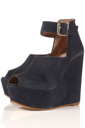 suede,wedges,buckles,blue,shoes
