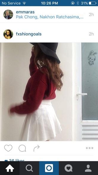 skirt white tennis tumblr hat top beautiful