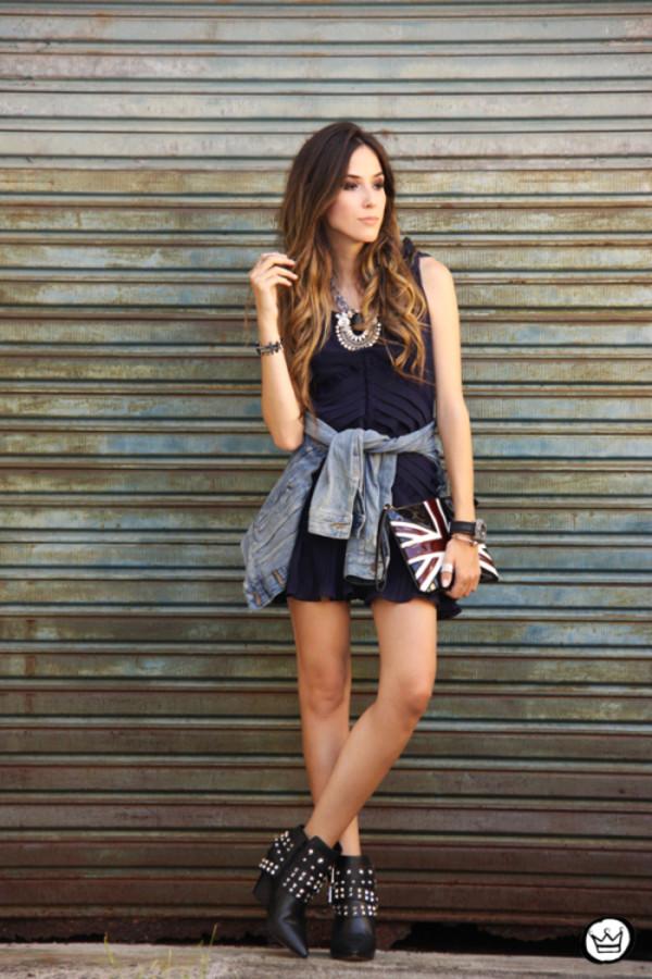 fashion coolture dress jacket bag jewels shoes