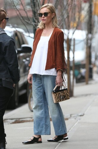 jeans top denim kate bosworth jacket fringe