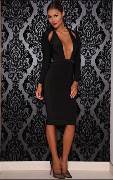 sexy dress black dress sexy party dresses plunge neckline plunge dress  bodycon dress little black dress. 39. want!1. Dream it Wear ... 2760db9a4