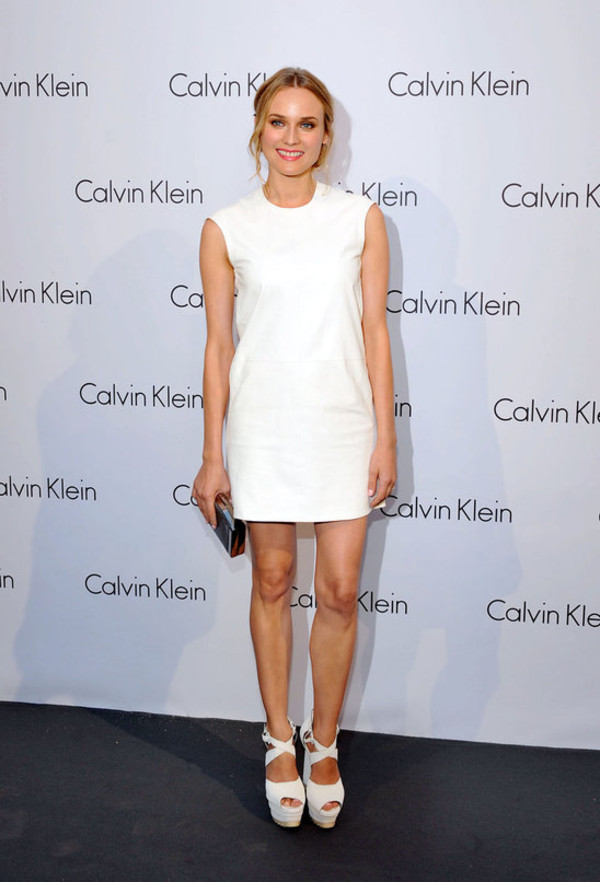 dress calvin klein dress white dress diane kruger shoes shift dress