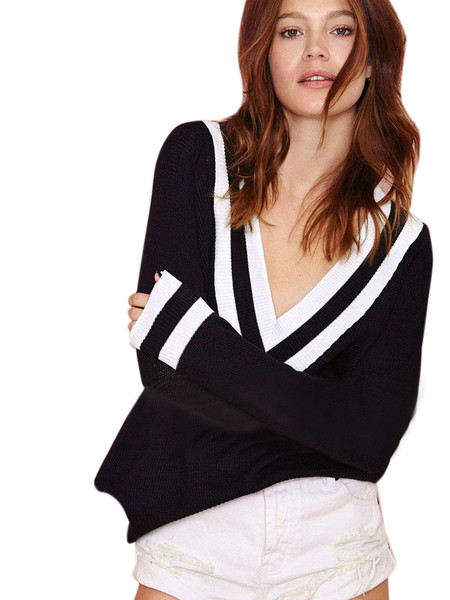 Crick Deep V Sweater | Outfit Made