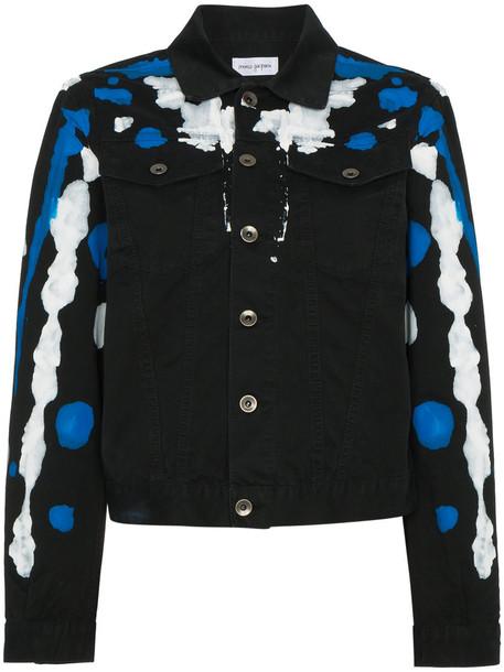 Mirco Gaspari jacket denim jacket denim women cotton black
