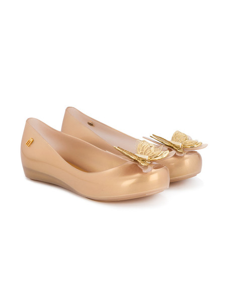 MINI MELISSA bow plastic grey metallic shoes