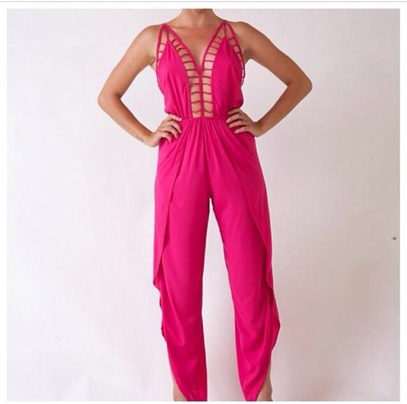 romper cute pink sexy spring pants white rompers highwasted bottoms style spring fashion