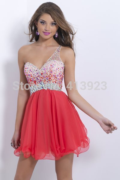 Aliexpress.com : Buy Free Shipping 2014 Multi Colorful Crystal Scalloped Neckline Open Back Homecoming Dress Under 100 from Reliable dress international shipping suppliers on Chaozhou City Xin Aojia dress Factory