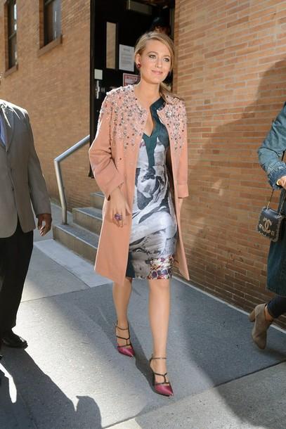 dress asymmetrical blake lively pumps coat shoes