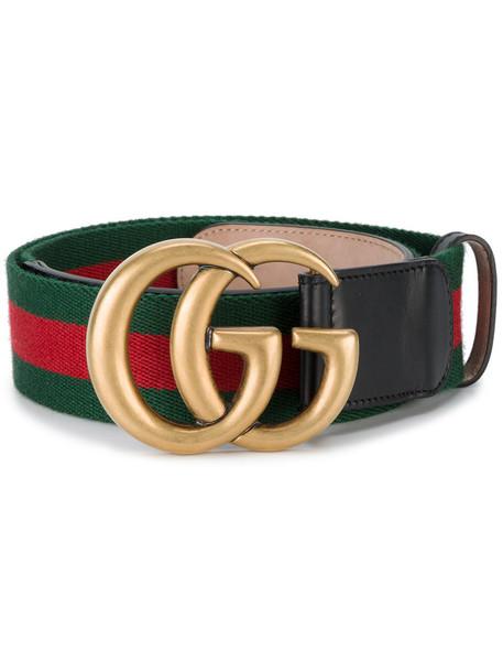 4c04a93b305 gucci Gucci - web double G buckle belt - women - Cotton Leather - 85