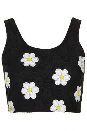Daisy Lace Bralet - Crop Tops  - Tops  - Clothing - Topshop