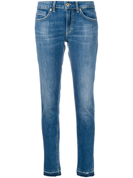 DONDUP jeans skinny jeans women spandex cotton blue