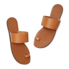Astrid Camel Leather Sandals