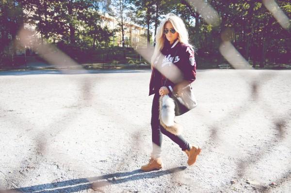 fanny lyckman blogger jacket jeans bag