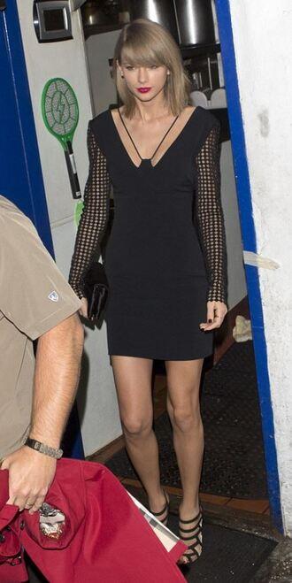 shoes sandals taylor swift mini dress black dress dress