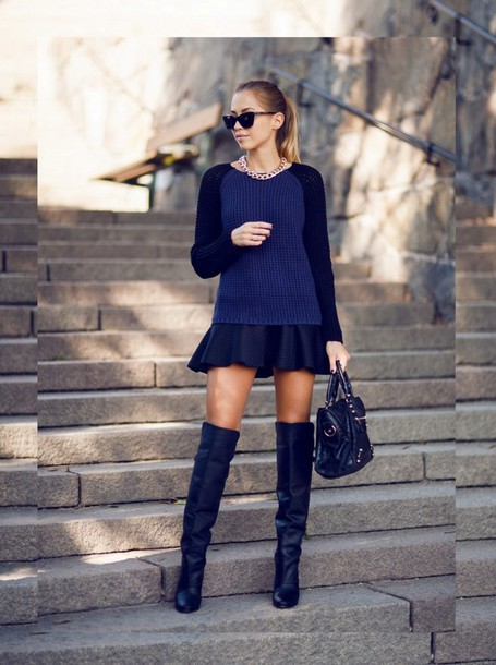 kenza sweater skirt shoes jewels bag sunglasses