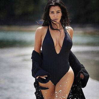 swimwear designer black one piece luxury kim kardashian peixoto kim kardashian style one piece swimsuit