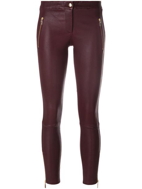 Arma cropped zip women spandex cotton purple pink pants