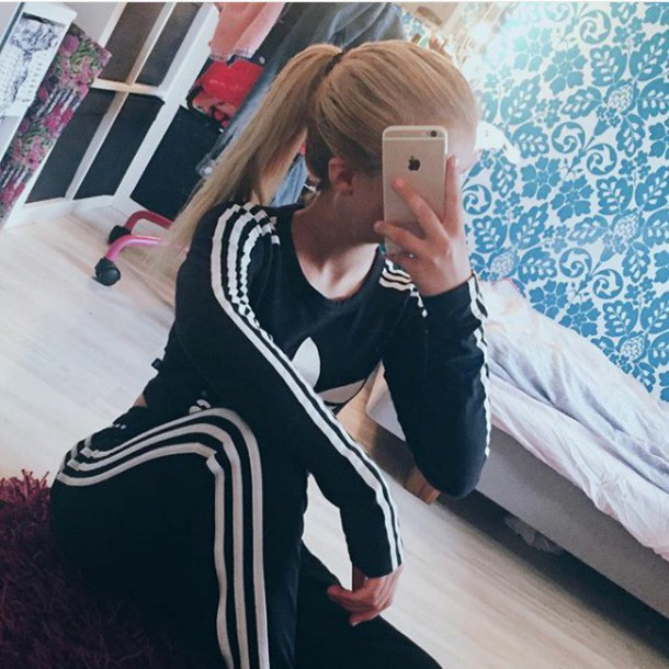 sweater adidas adidas originals black white black and white